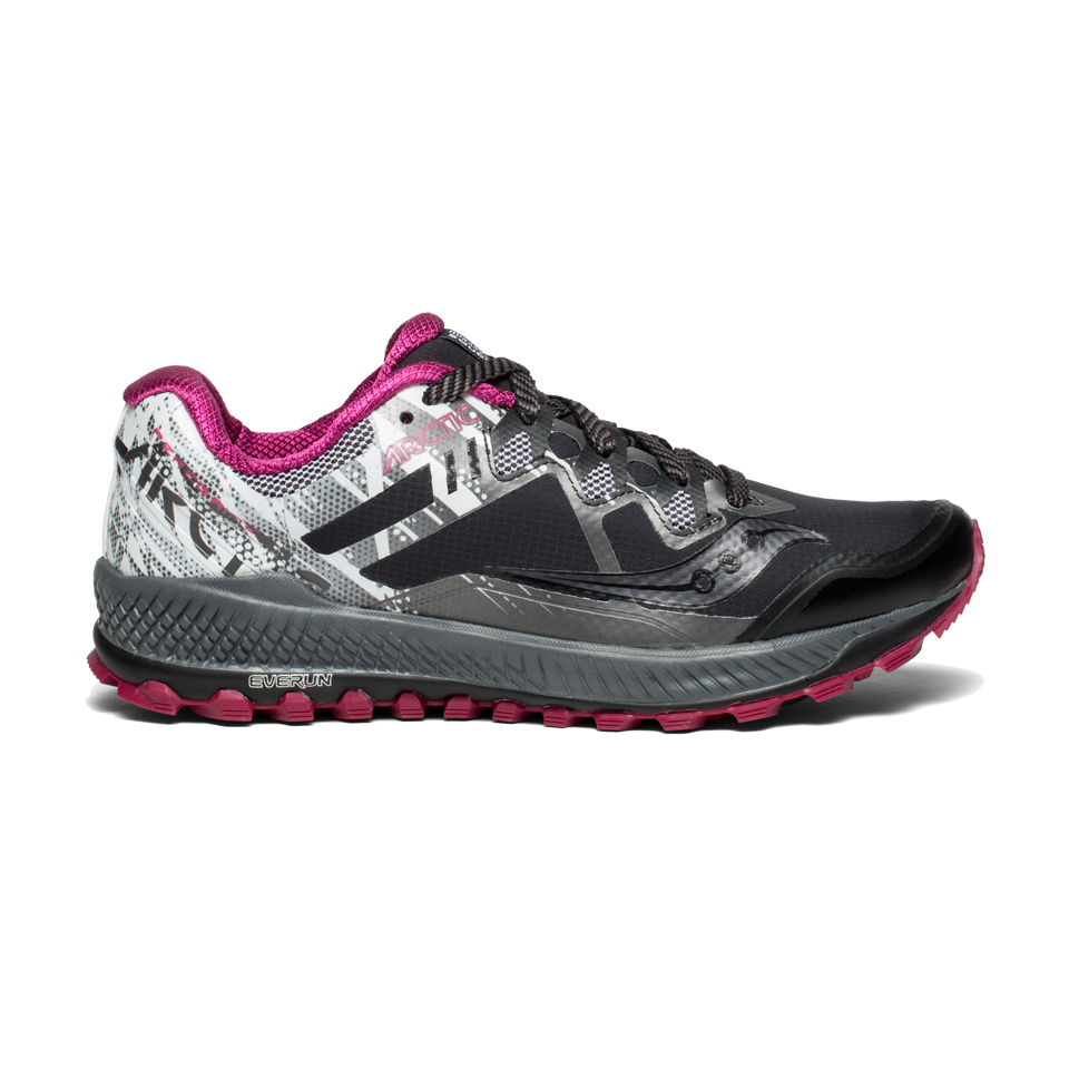 latest design classic online for sale Saucony Women's Peregrine 8 Ice+ Black/White - Play Stores Inc
