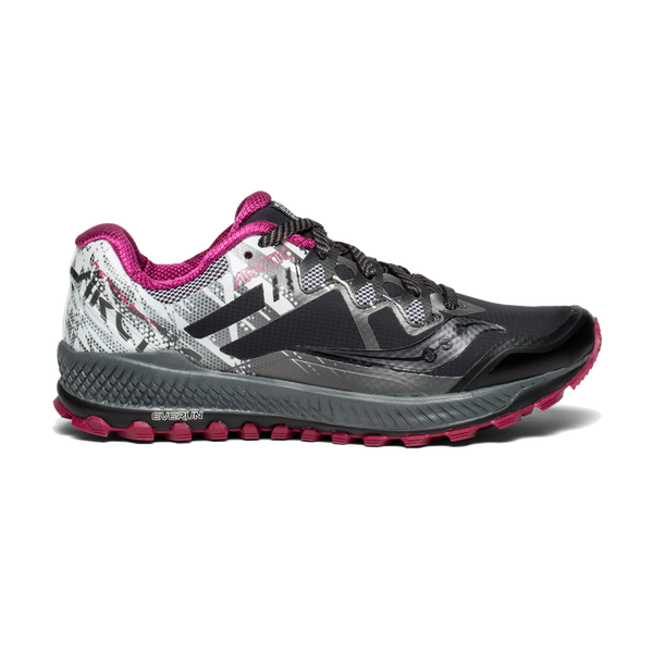 Saucony Women's Peregrine 8 Ice+ Black/White