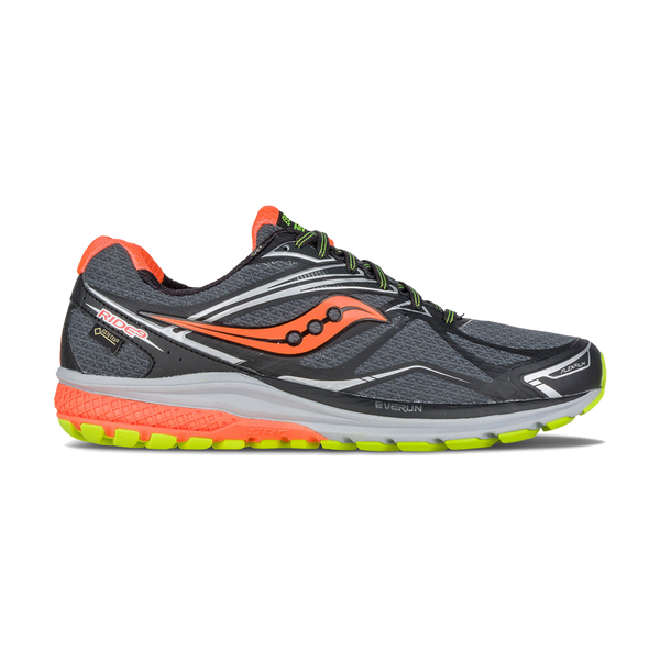 Saucony Men's Ride 9 GTX Black/Slime/Vizi Orange