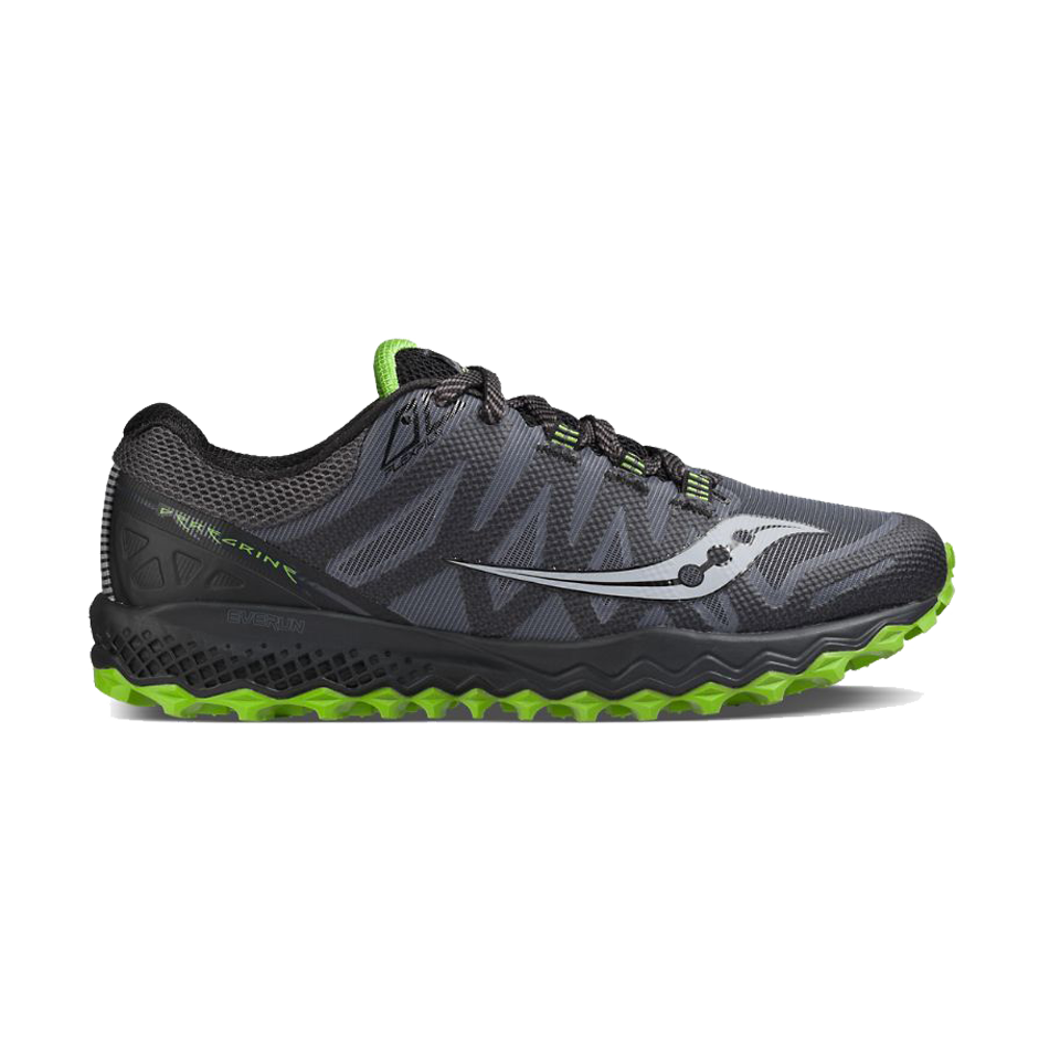 7add97a29d85 Saucony Men s Peregrine 7 Grey Black Lime - Play Stores Inc