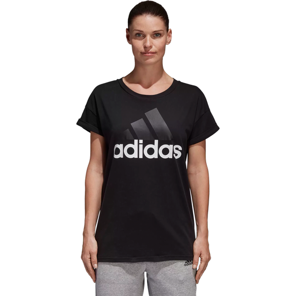 Adidas Women's Essentials Linear Loose Tee Black