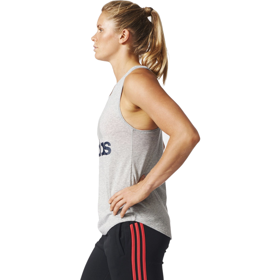 Adidas Women's Essential Logo Tank Medium Grey Heather