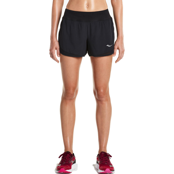 "Saucony Women's 4"" Impulse Short Black"