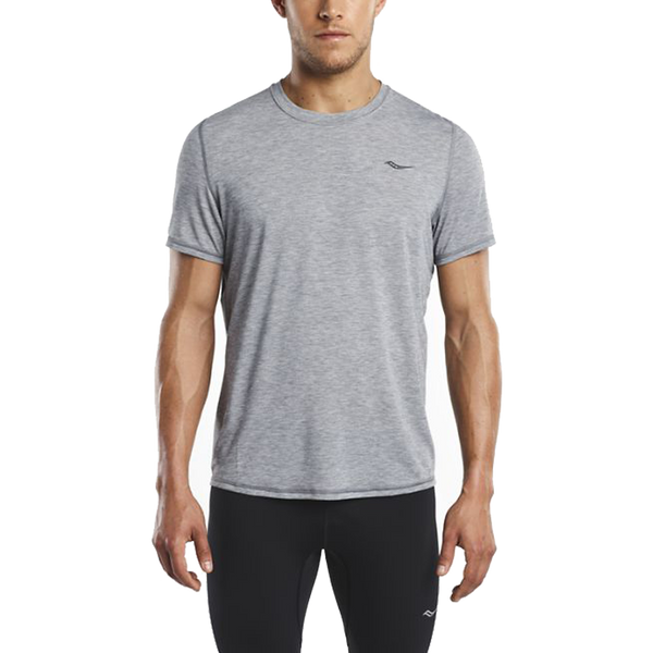 Saucony Men's Freedom Short Sleeve Dark Grey Heather
