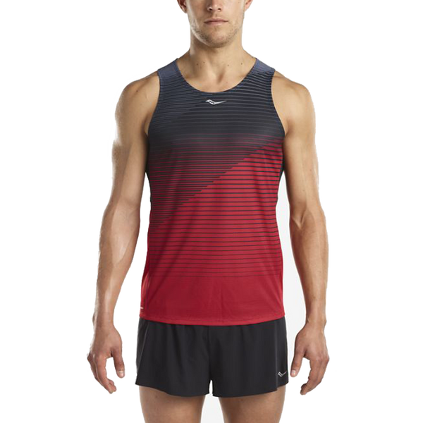 Saucony Men's Endorphin Singlet Cherry