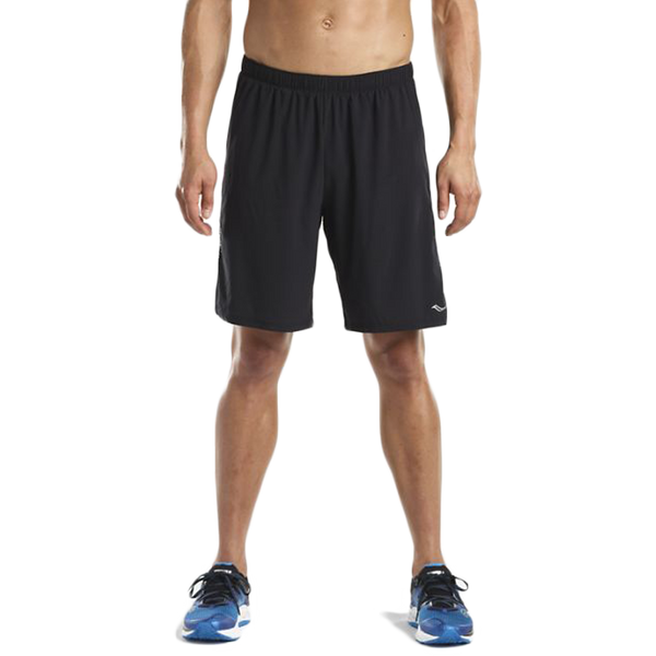 "Saucony Men's Interval 9"" 2in1 Short Black"