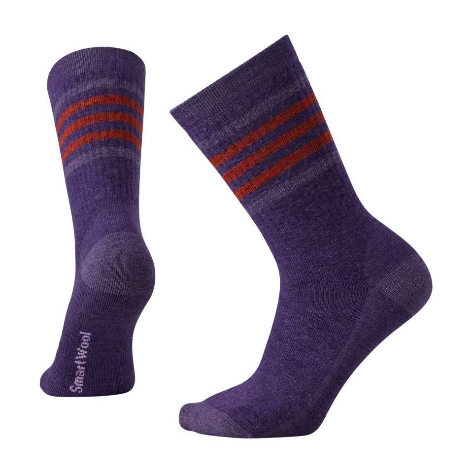Smartwool Women's Striped Hike Medium Crew Mountain Purple