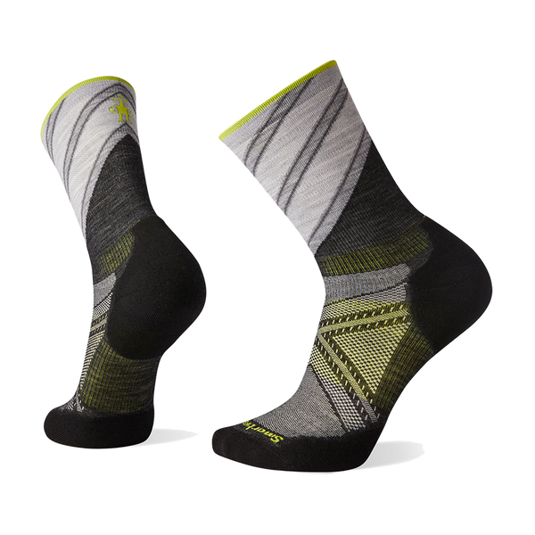 Smartwool Men's PhD Run Light Elite Pattern Crew Charcoal