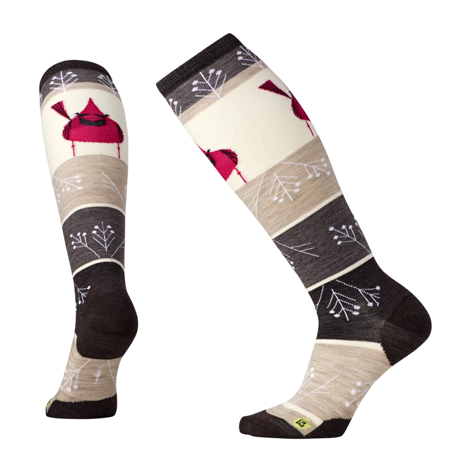 Smartwool Women's Charley Harper Cardinal Knee High Natural