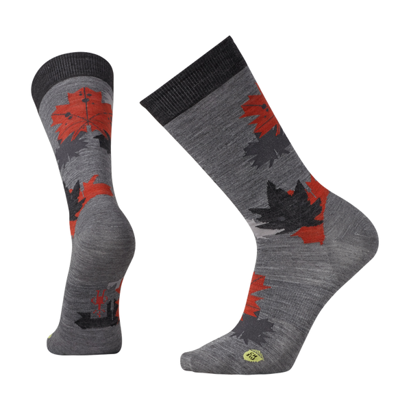 Smartwool Men's Charley Harper Glacial Bay Camo Leaf Medium Grey