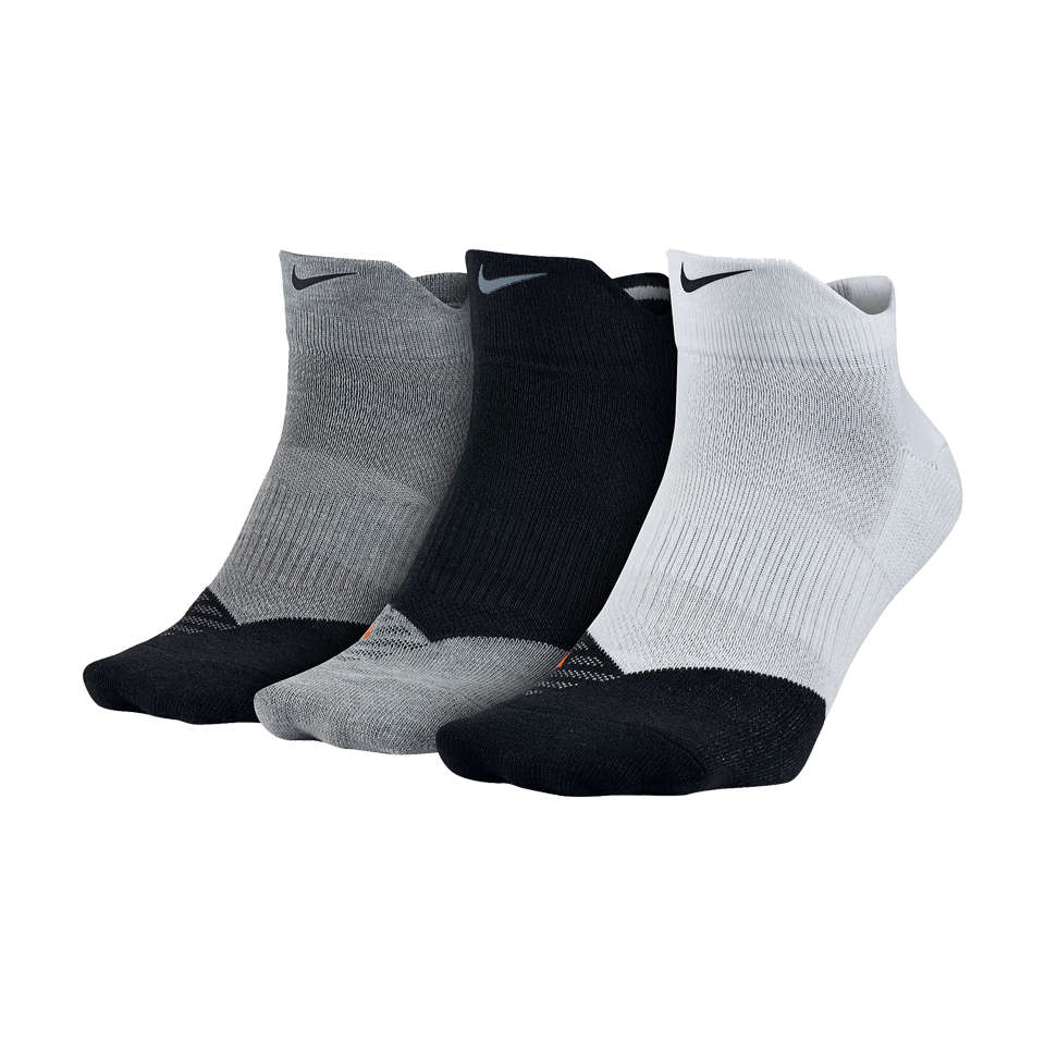 Nike Men's Dri-Fit Lightweight Low Quarter Train Sock 3 Pack Multi