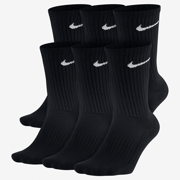 Nike Men's 6 Pack Crew Sock Black