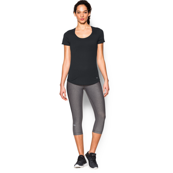 Under Armour Women's Threadborne Streaker Short Sleeve Black