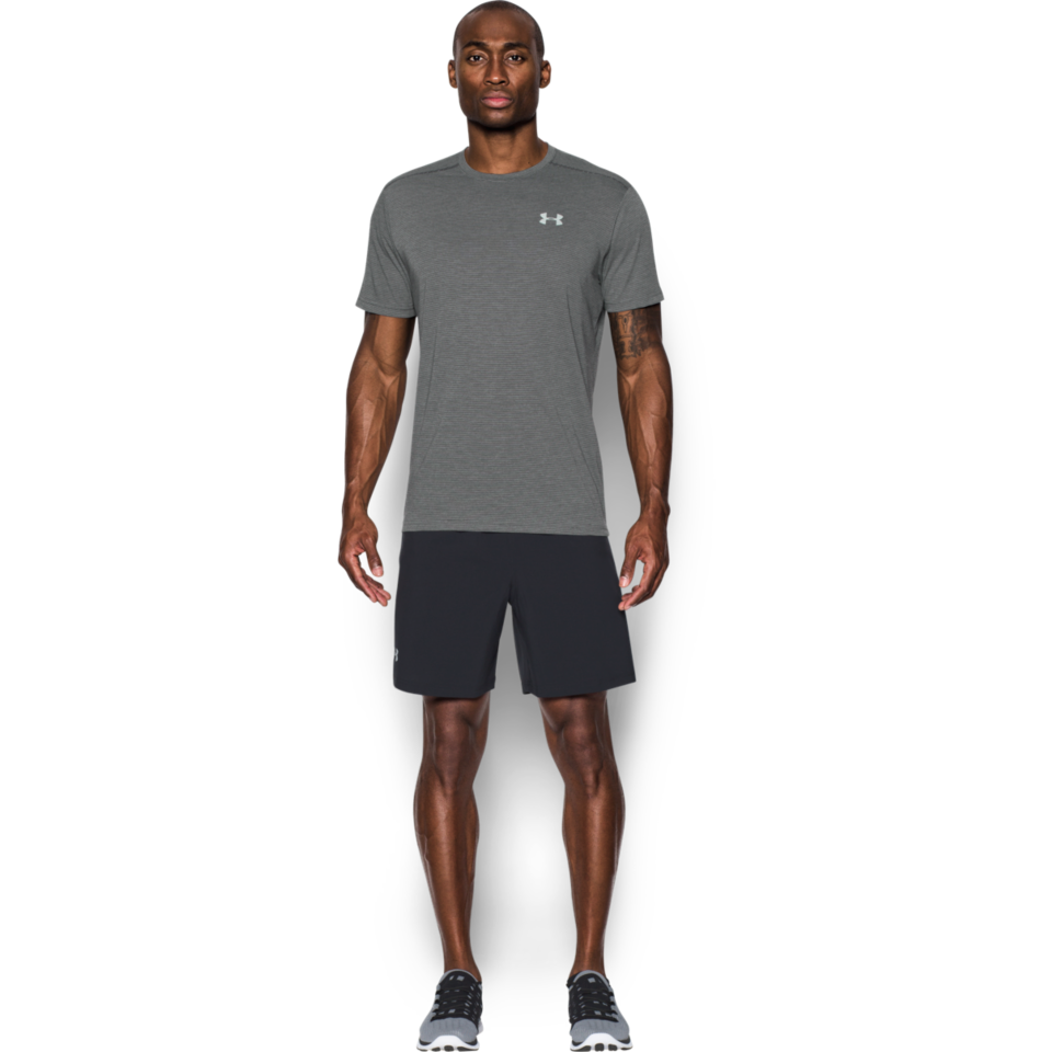 Under Armour Men's Threadborne Streaker Tee Carbon Heather