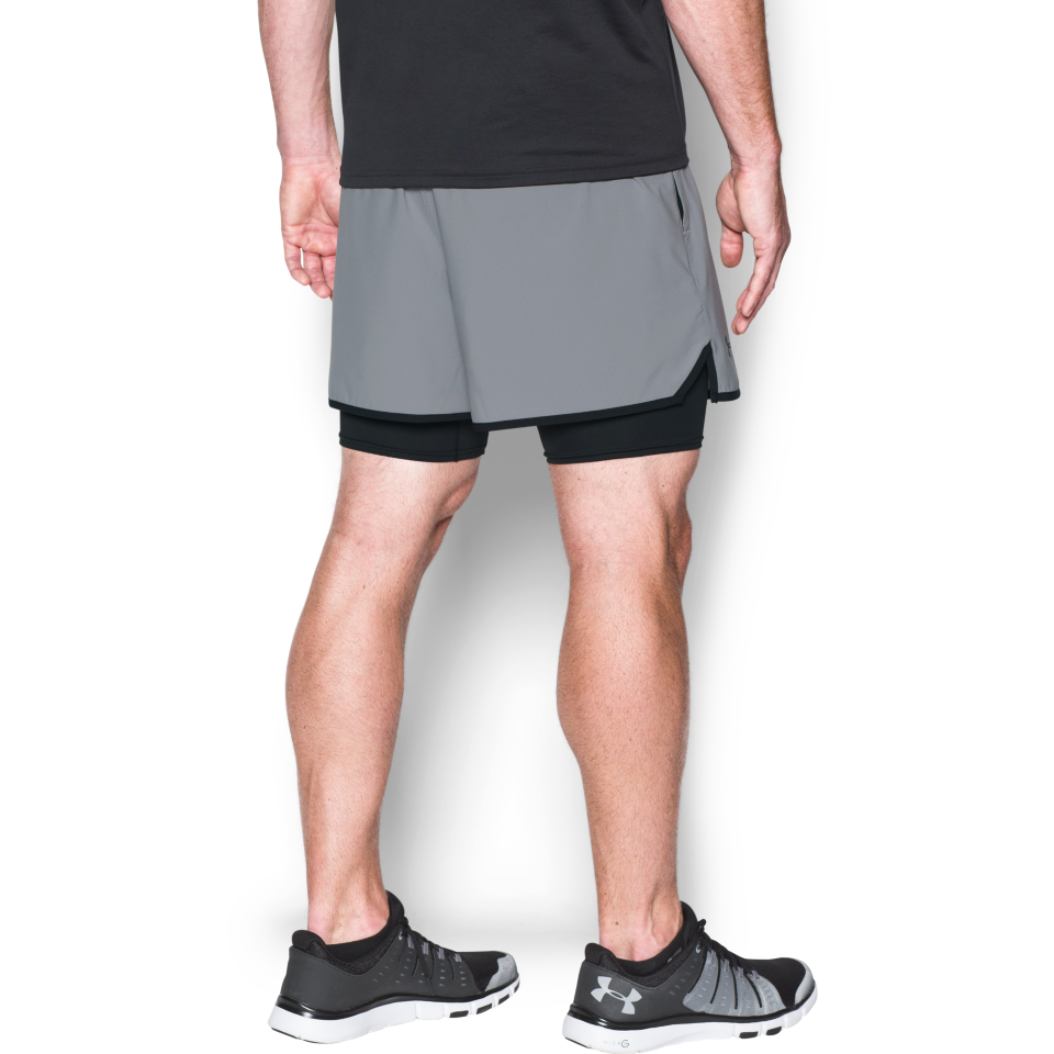 Under Armour Men's Qualifier 2-in-1 Short Steel