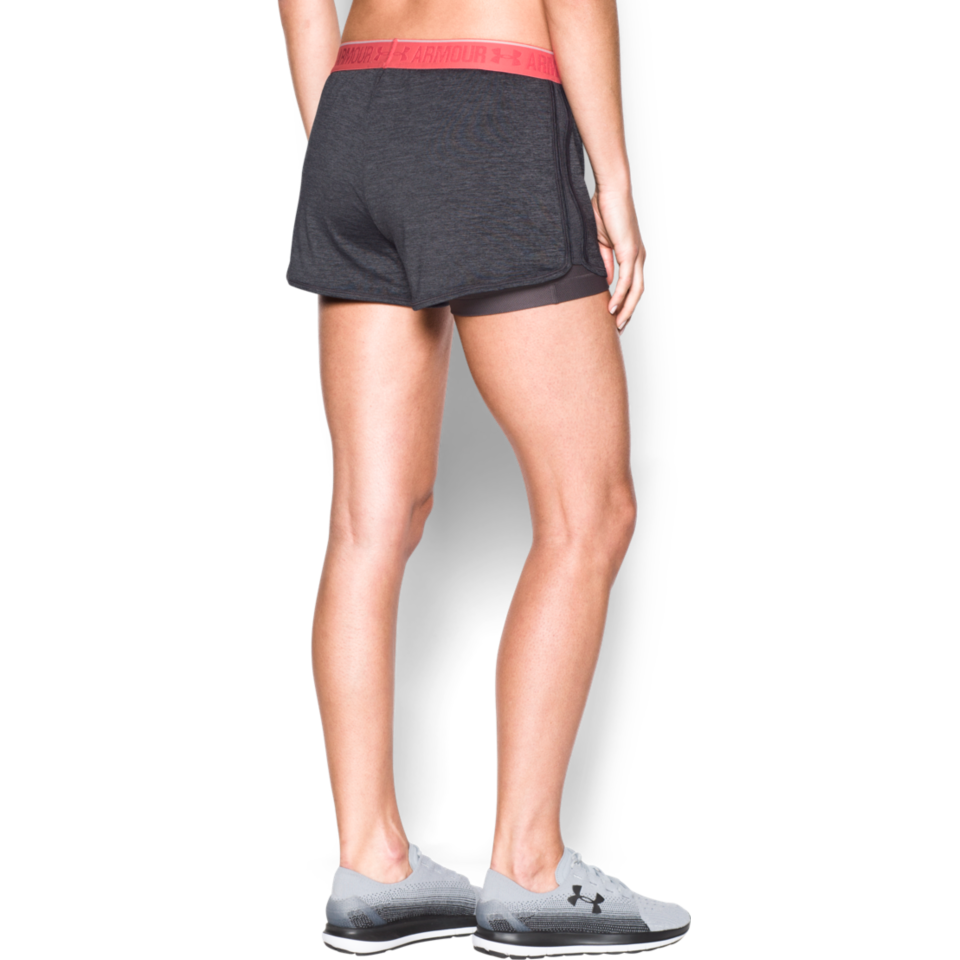 Under Armour Women's HeatGear Armour 2-in-1 Short Carbon Heather