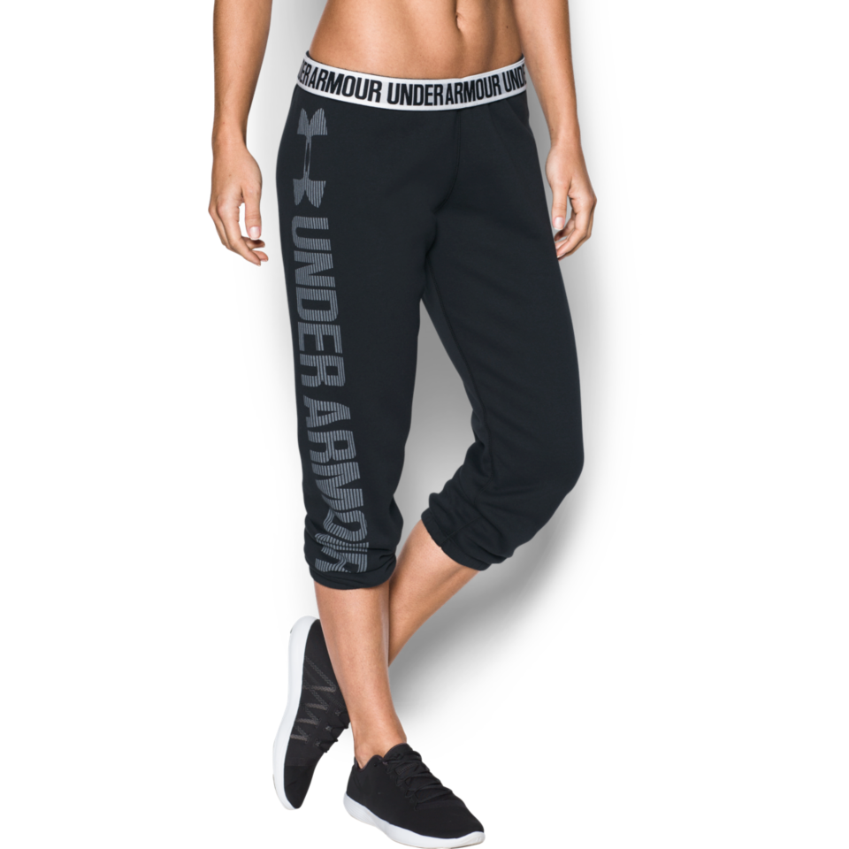 5dbd5499d7 Under Armour Women's Favourite Fleece Capri Black - Play Stores Inc