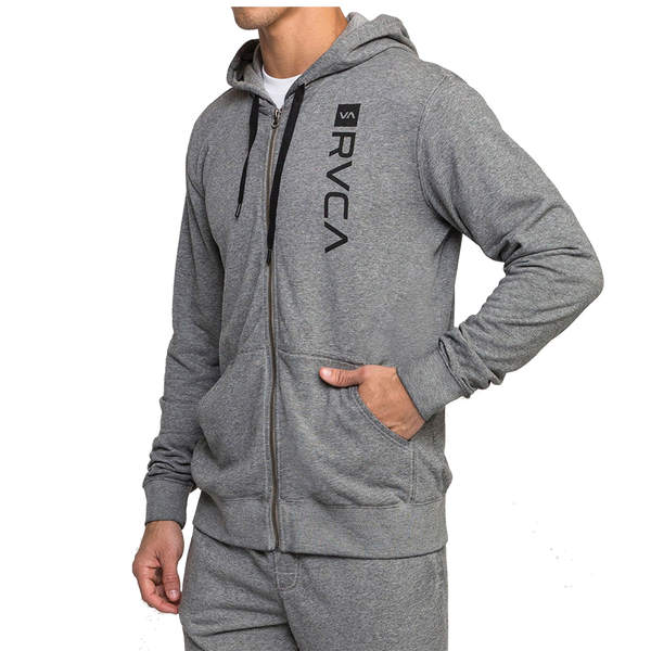 RVCA Men's Cage Hoodie Heather Grey
