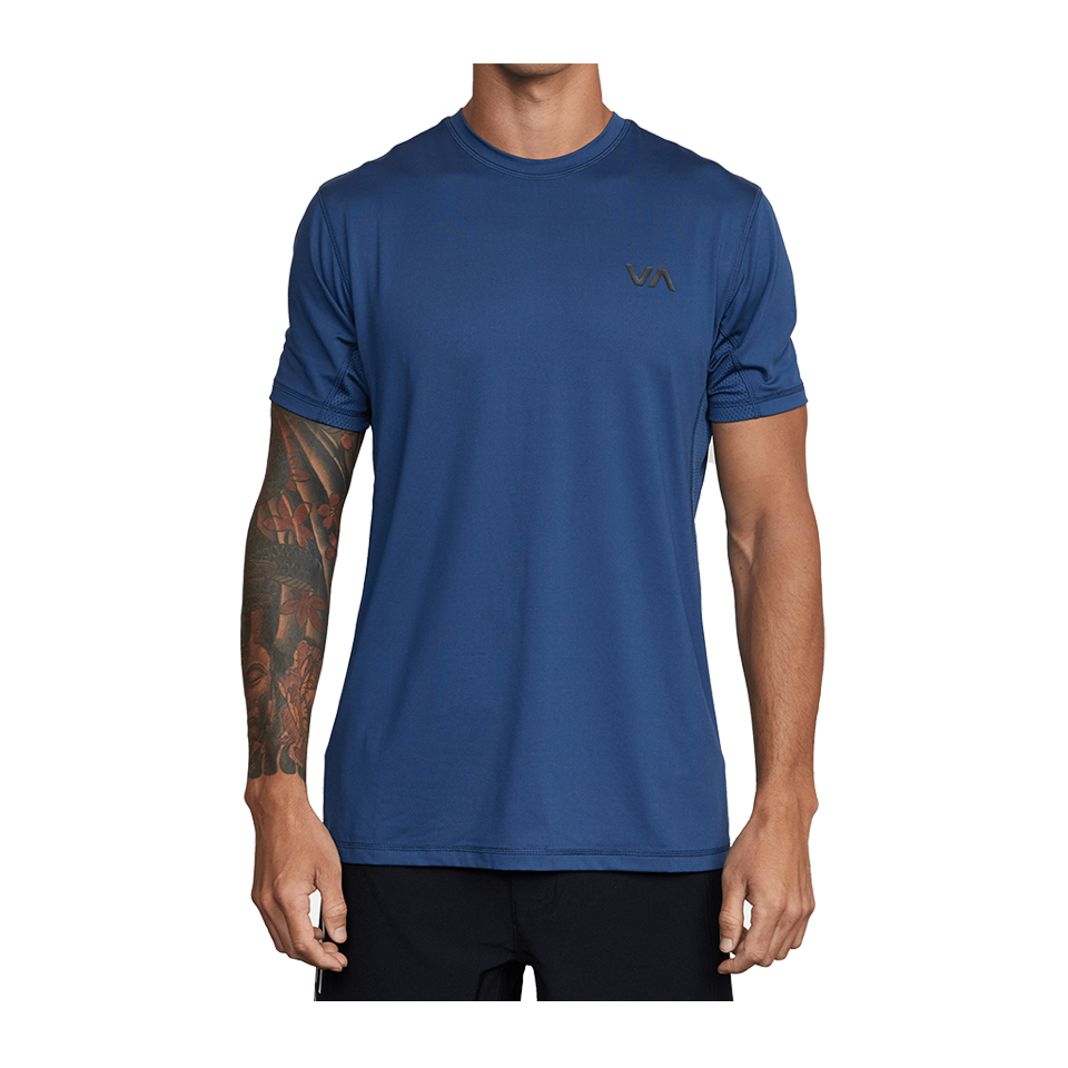 RVCA Men's Sport Vent Short Sleeve Tee Dark Denim