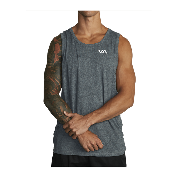 RVCA Men's Sport Vent Tank Top Charcoal Heather