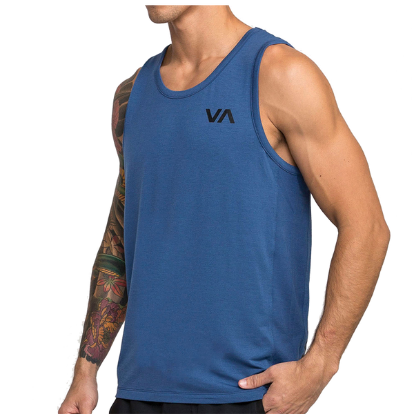 RVCA Men's VA Vent S/Less Tee Surplus Blue