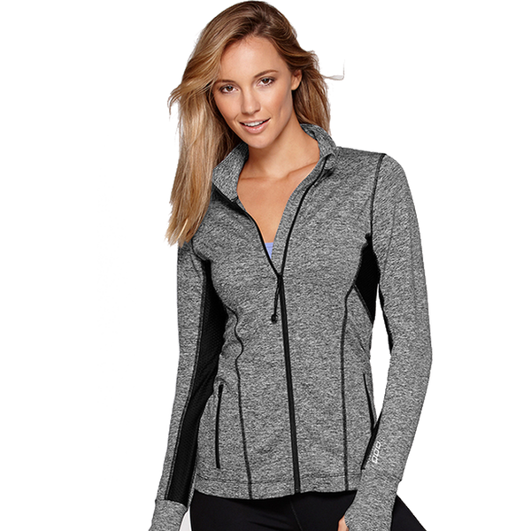 Lorna Jane Women's Rally Excel Zip Black Marl