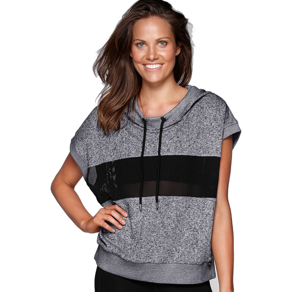 Lorna Jane Women's Cabana Cropped Hoodie Smokey Grey Marl