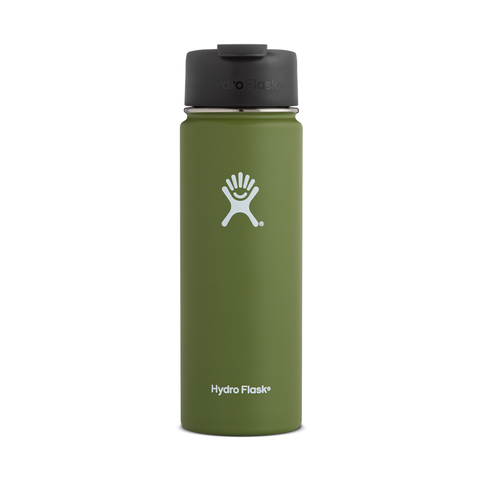 Hydro Flask 20oz Wide Mouth With Flip Lid Olive