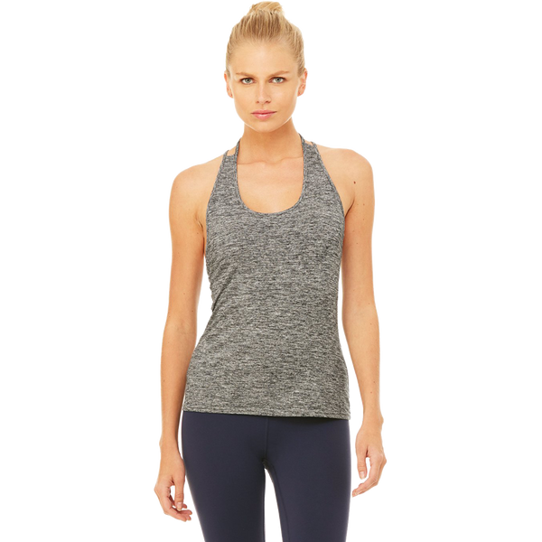 Alo Women's True Tank Charcoal Heather
