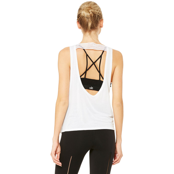 Alo Yoga Women's ACME Tank White
