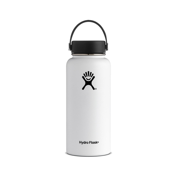 Hydro Flask 32oz Wide Mouth White