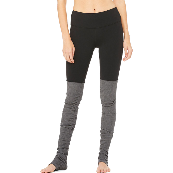 Alo Yoga Women's Goddess Legging Black/Stormy Heather