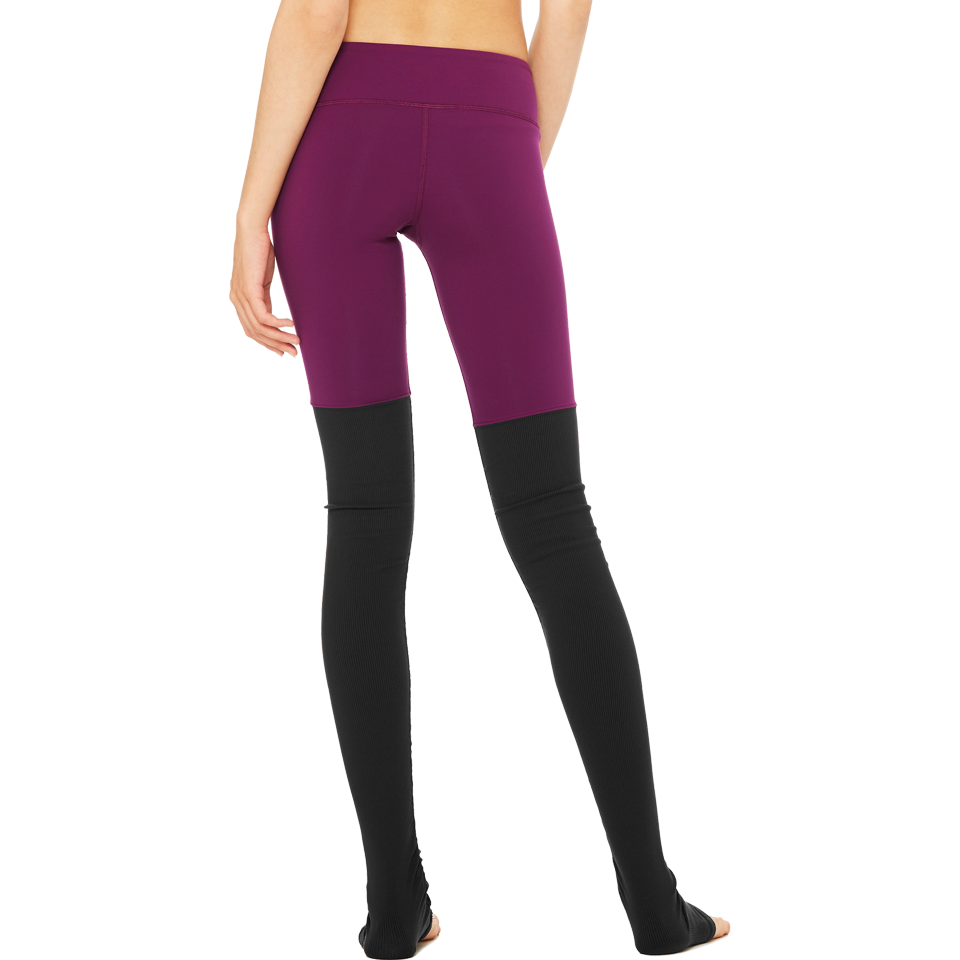Alo Women's Goddess Legging Juneberry/Black