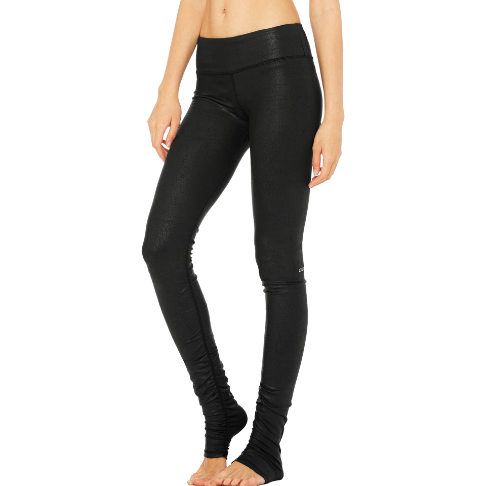 Alo Women's Idol Legging Black Glossy