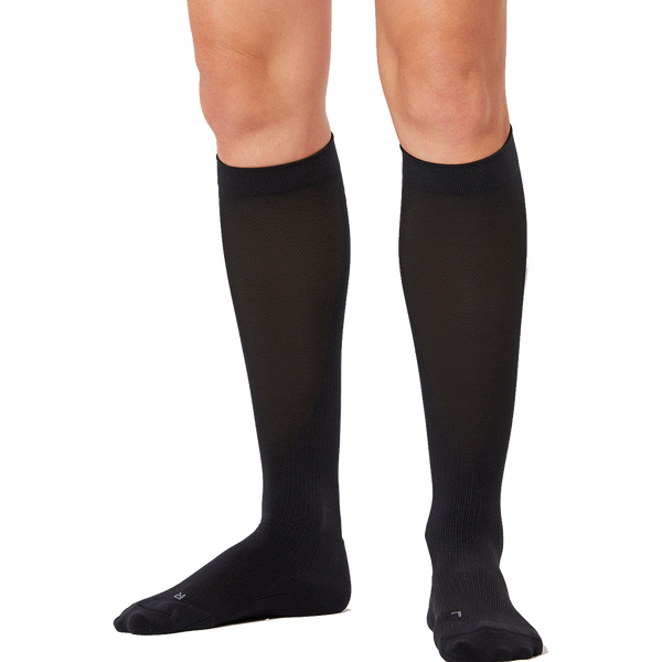 2XU Women's Compression Performance Run Sock Black/Black