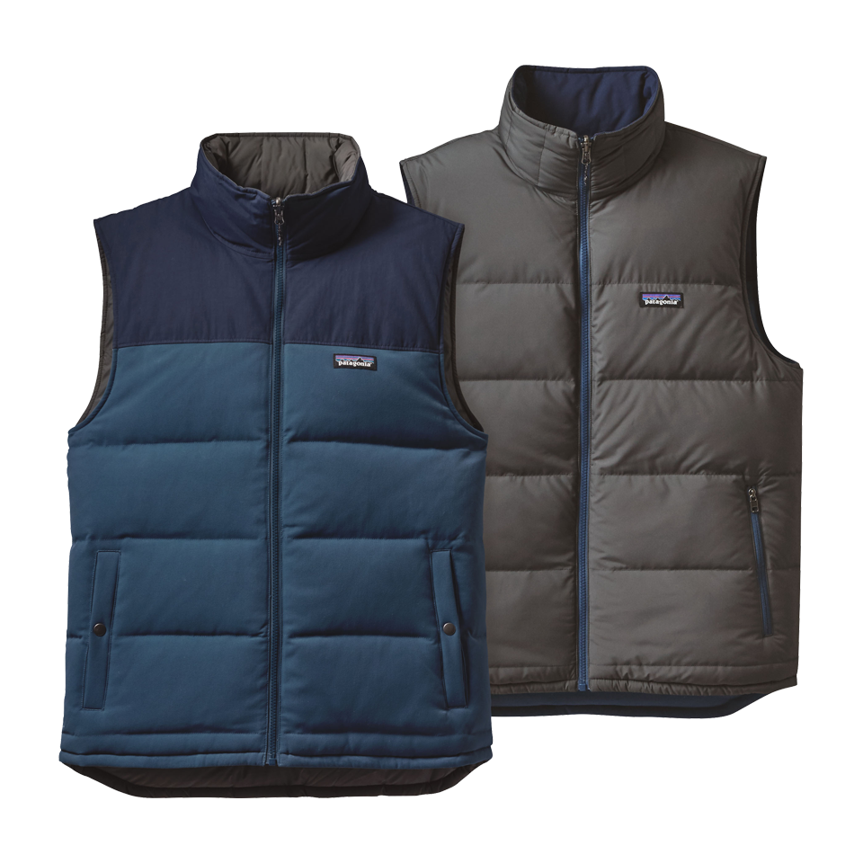 Patagonia Men's Reversible Down Vest Glass Blue