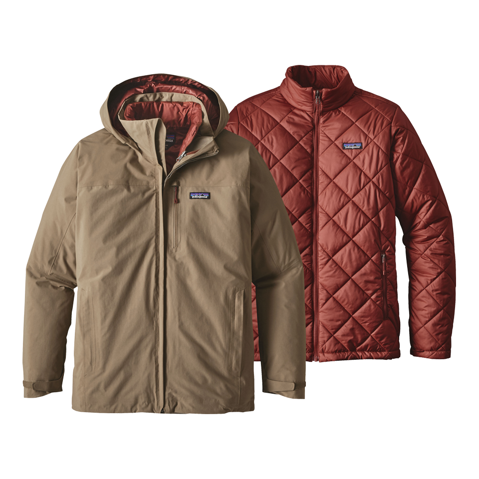 Patagonia Men's Windsweep 3 in 1 Jacket Ash Tan