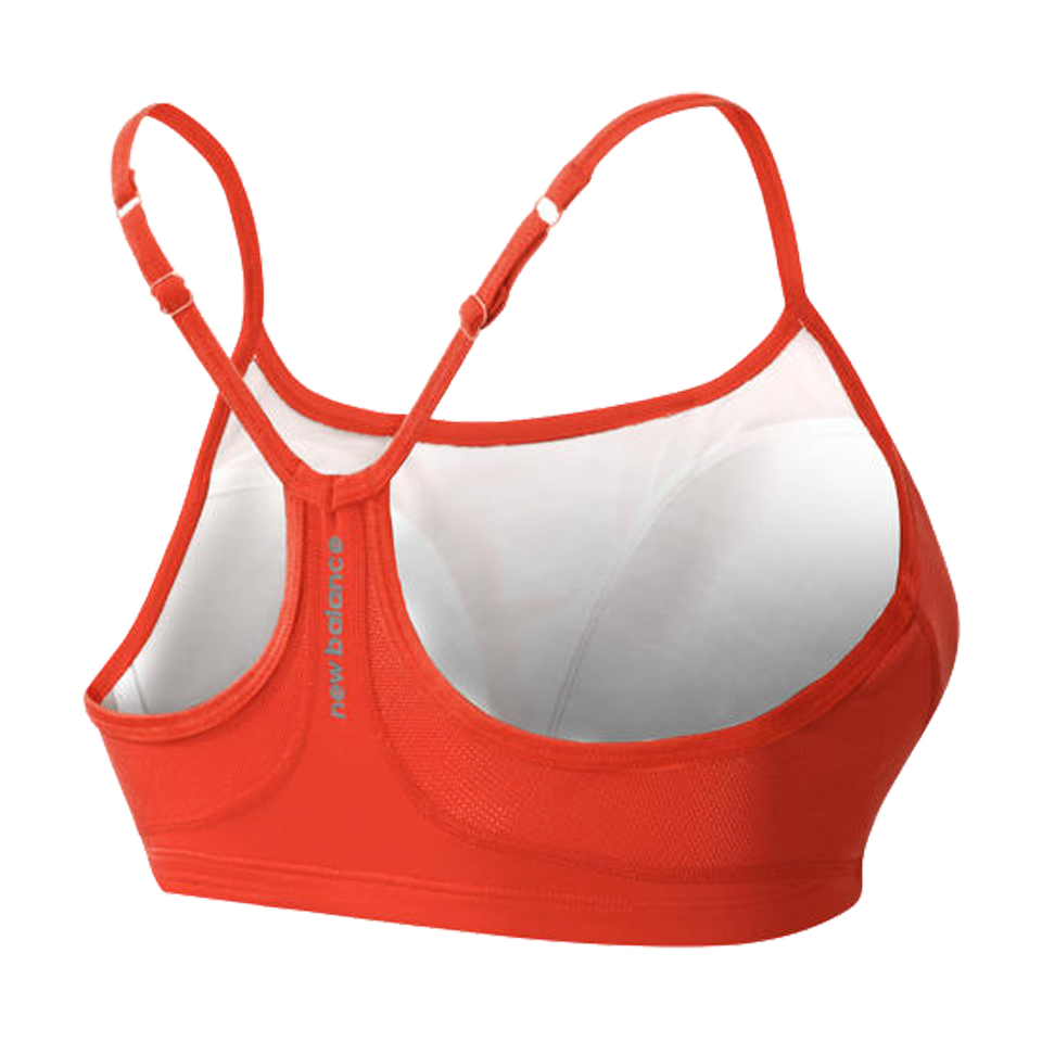New Balance Women's Tenderly Obsessive Bra Dragonfly Coral