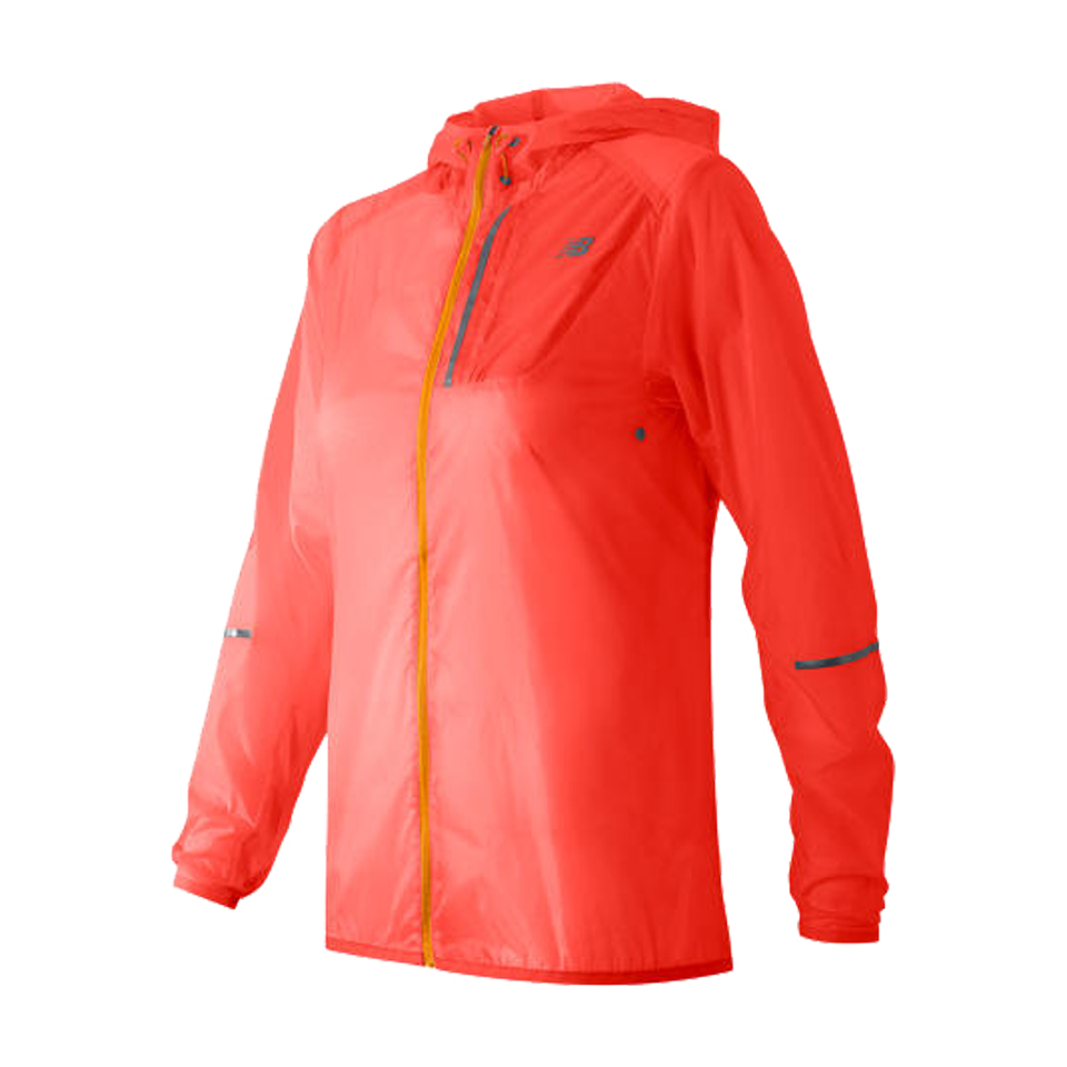 New Balance Women's Lite Packable Jacket Dragonfly Coral
