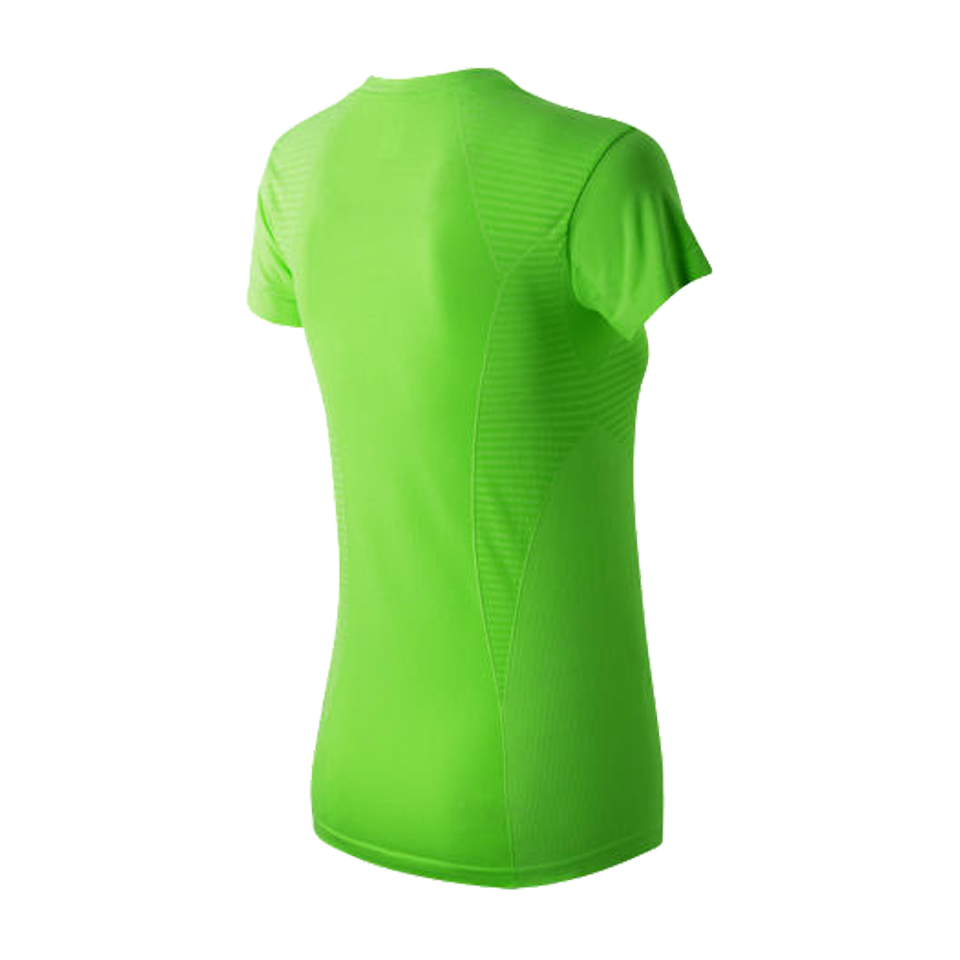 New Balance Women's M4M Seamless Short Sleeve Toxic Heather