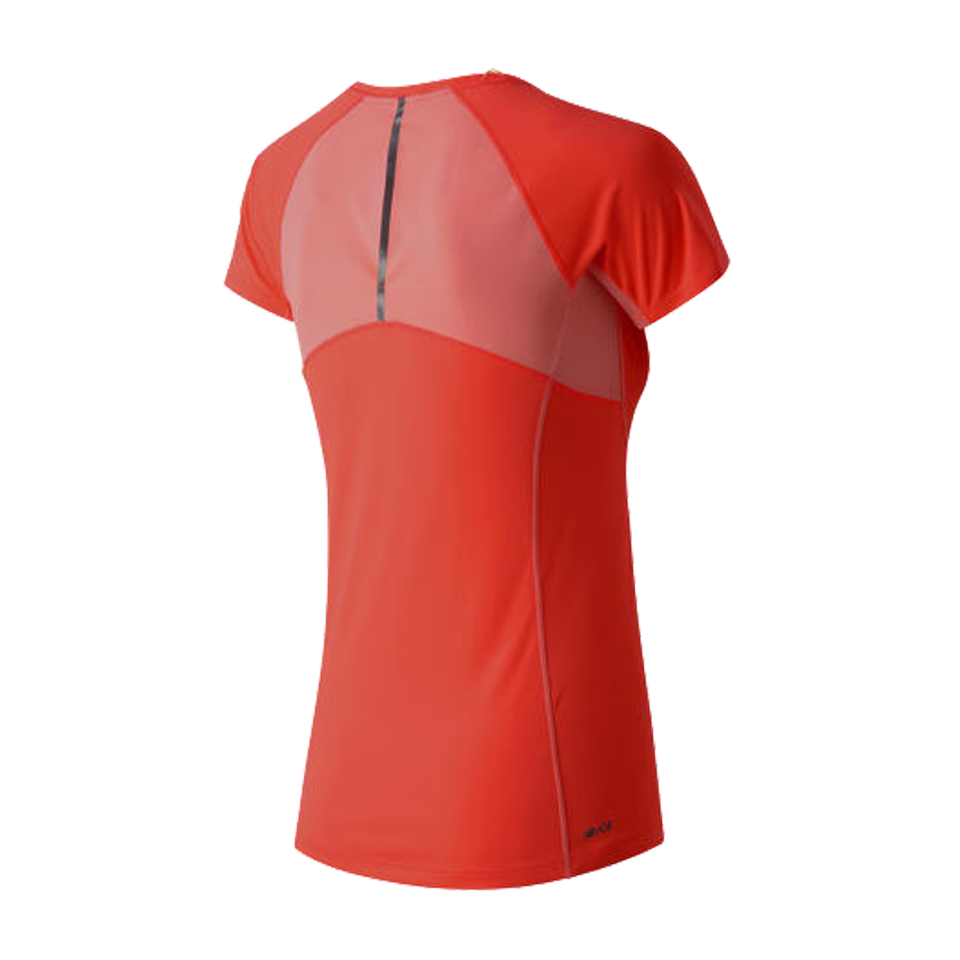 New Balance Women's Ice Short Sleeve Dragonfly Coral
