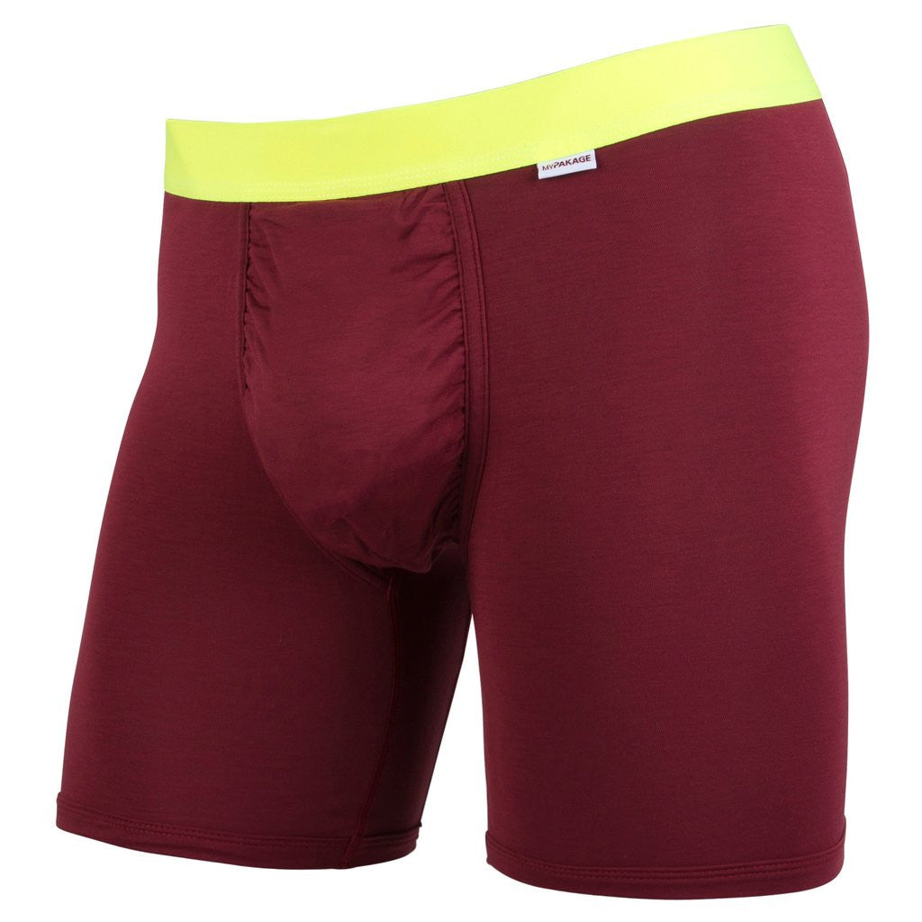 My Pakage Men's Weekday Basics Burgundy/High-Vis Yellow