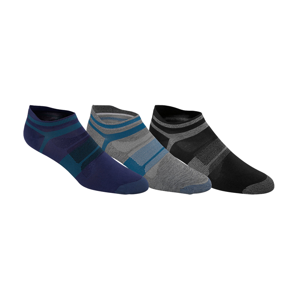 Asics Men's Quick Lyte Single Tab Socks 3 Pack Thunder Blue