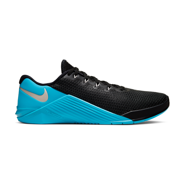 Nike Men's Metcon 5 Black/Desert Sand - LT Current Blue