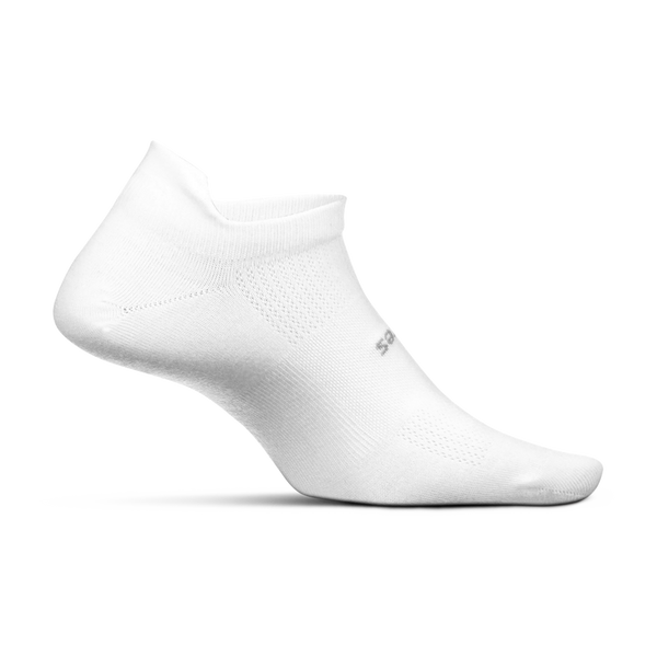 Feetures High Performance Ultra Light No Show Tab White