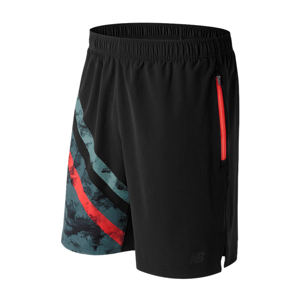 New Balance Men's Max Intensity Short Black Print