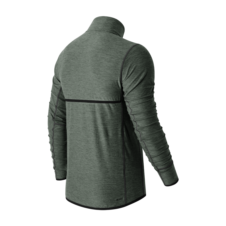 New Balance Men's Transit Quarter Zip Heather Charcoal