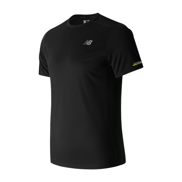 New Balance Men's Ice Short Sleeve Black