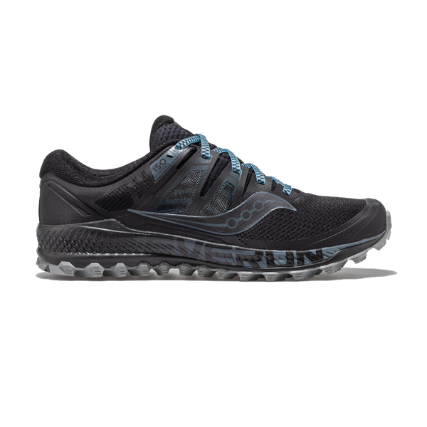 Saucony Mens Peregrine ISO Black/Grey
