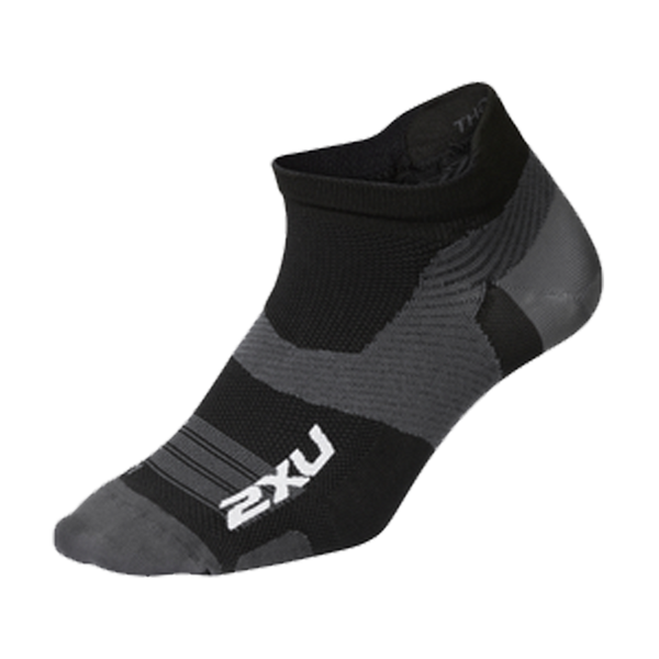 2XU Vectr Ultralight No Show Black/Titanium